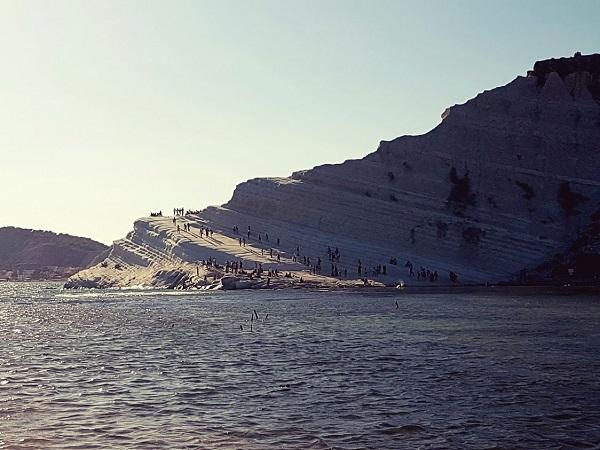 Sicilia Scala dei Turchi al tramonto