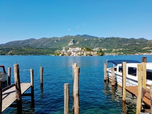 Imbarco per l'Isola di San Giulio sul Lago d'Orta