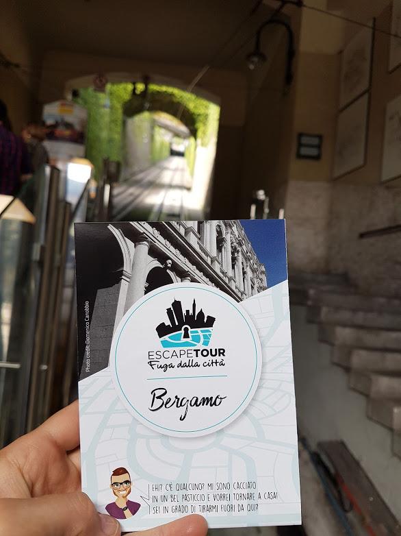 La città alta di Bergamo si raggiunge con la funicolare, e da lì si parte per esplorare la città con Escape Tour