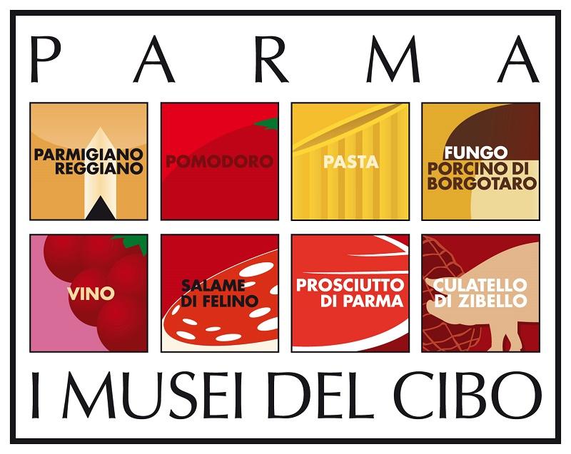 Il logo dei Musei del Cibo di Parma: 8 musei per scoprire il parmense attraverso l'enogastronomia