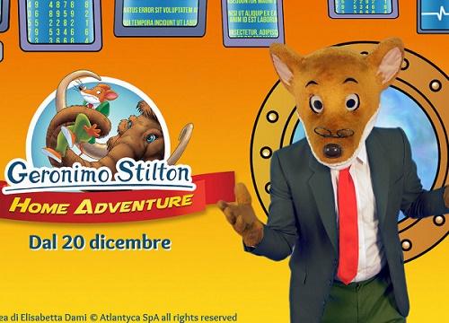 Geronimo Stilton Home Adventure: evento online interattivo per bambini in compagnia di Geronimo Stilton